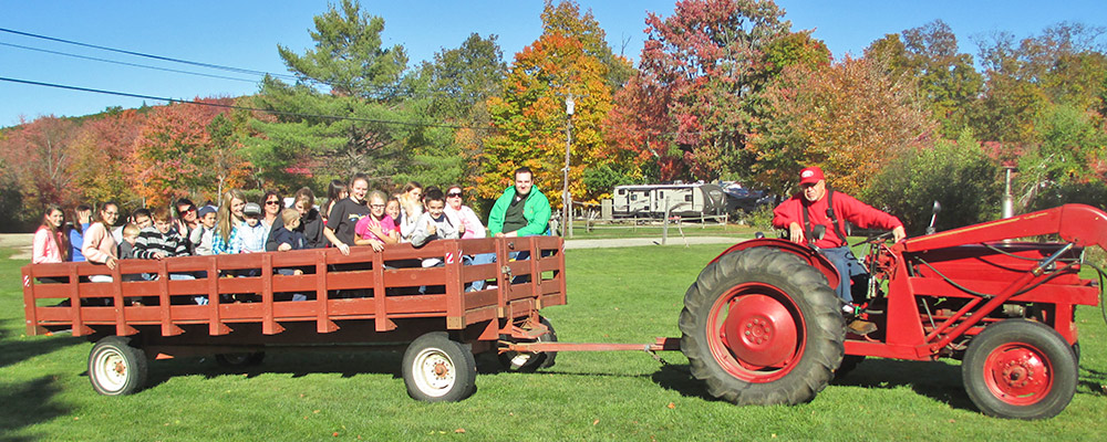 Hayride at Sunsetview Farm Camping Area