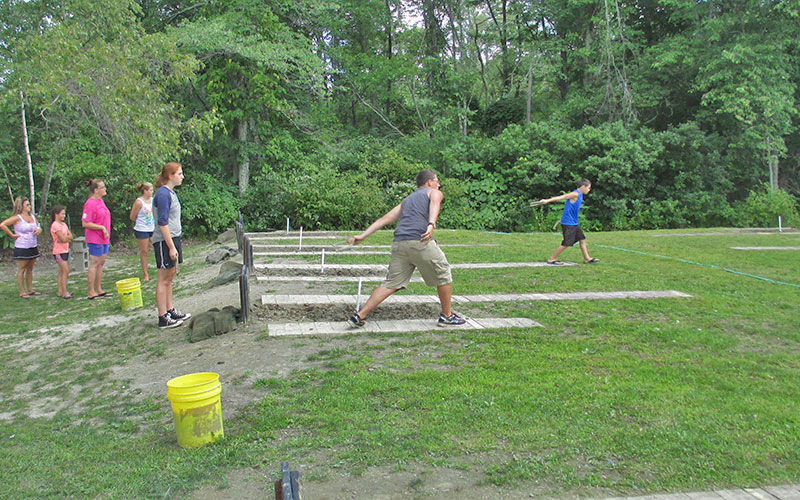 Sunsetview Farm Camping Area Horseshoes game