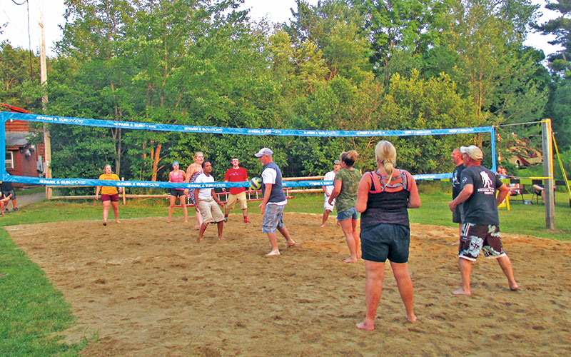 Sunsetview Farm Camping Area Volleyball Game